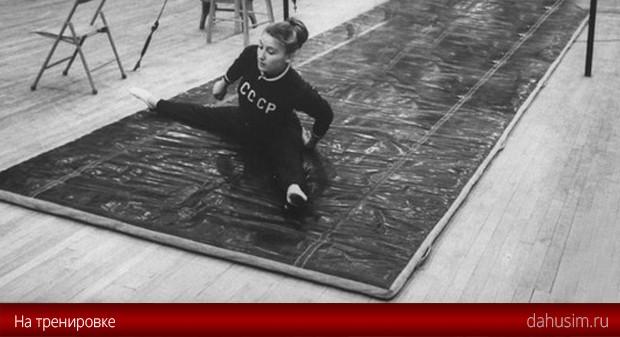 Полина Астахова на тренировке