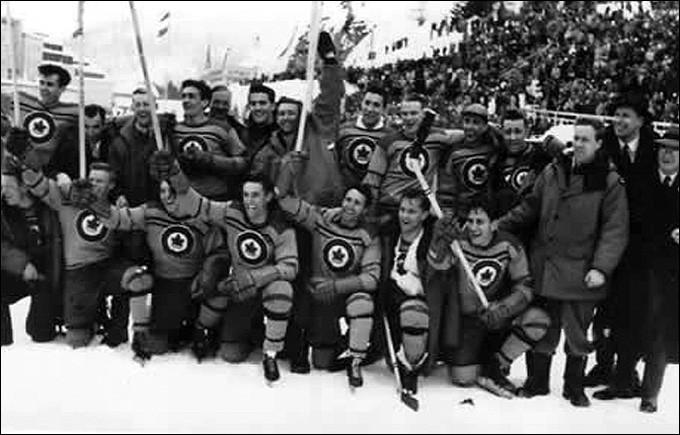 Олимпийские чемпионы по хоккею. Санкт-Морице (Швейцария) 1948