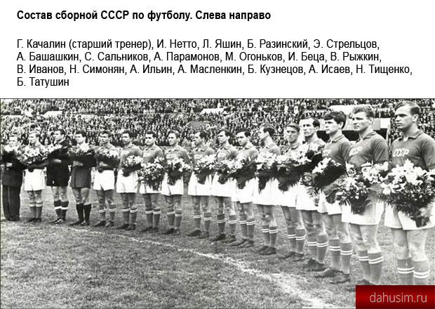 Сборная СССР — олимпийский чемпион по футболу.